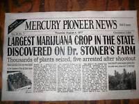 "(310L) NOVELTY POSTER DOCTOR STONER'S MARIJUANA FRONT PAGE NEWS 11""x17"""