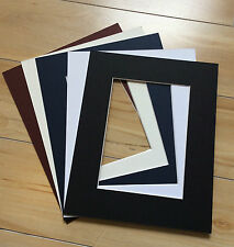 """6 x Professional Picture Framing Mat Boards 16""""x 20"""" with 12"""" X 18"""" Photo Window"""