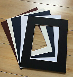 6 x Professional Picture Framing Mat Boards A3 with A4 Window