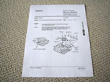 Sony TCD-D3 DAT deck service bulletin - head drum cable damage prevention