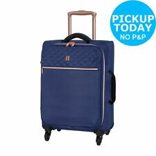 It Luggage Small Expandable 4 Wheel Suitcase - Navy