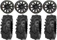 "System 3 SB-3 Black 14"" Wheels 32"" Mudda Inlaw Tires Can-Am Maverick X3"