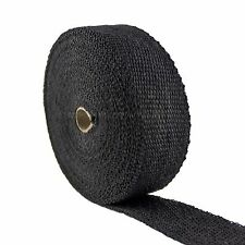 "FIBERGLASS WRAP EXHAUST PIPE TAPE DARK BLACK 2"" 50 FT CERAMIC HARLEY HIGH HEAT"