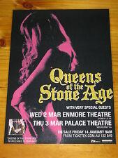 QUEENS OF THE STONE AGE - QOTSA - 2011 Australian Tour - Laminated Promo Poster
