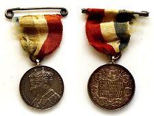 Medaglia Con Nastrino H.M. King George VI H.M. Queen Elizabeth. - King Born 1895