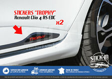 Renault Clio 4 RS EDC TROPHY 220 Stickers Autocollants Portes Doors Decals Rear