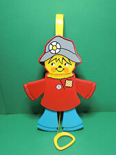 #423 Vintage Fisher-Price jumping jack scarecrow  pantin mobile épouvantail 1978