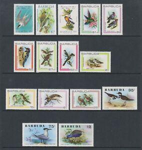 Barbuda - Small Collection of 15 Bird stamps - MNH