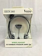 XBOX 360 Wired Headset Black By Icon
