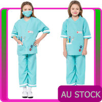 Child Nurse Doctor Girls Hospital Vet Costume Book Week Kids Fancy Dress Outfit