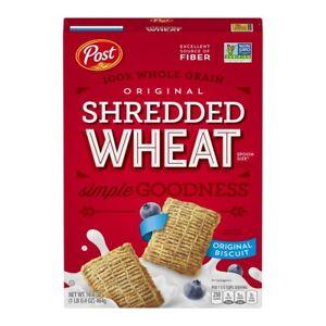 Post Shredded Wheat Breakfast, Original, 16.4 oz