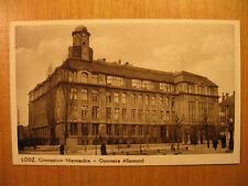 ~1910 alte AK Łódź Gimnazium Niemieckie Gymnase Allemand Lodz Polski Polen