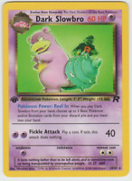 Pokemon Card 1st Edition Non Holo Rare Team Rocket 2000 Dark Slowbro 29/82