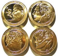 4 OLYMPIC GREAT GAMES MEDALS Bronze 39mm Athletes Images 1896 1904 1908 1948