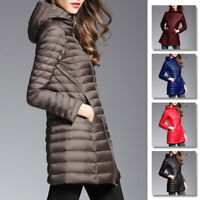 Womens Long Winter Warm Duck Down Puffer Jacket Coat Ultralight Outdoor 4XL-M