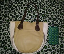 "Oryany Color Block Tote Kakhi Pink Brown Pebbled Leather ""Lyssie"" BNWT RET $300+"