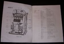 antique Mills slot machine parts manual