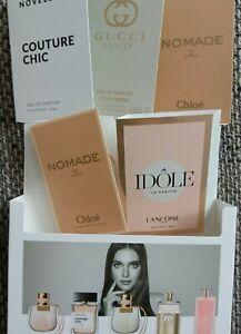 5 Luxus Parfum Proben in Discovery Box - Neu - Gucci, Lancome, Novellista, Chloé