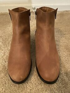 Frye Carly Double ZIP Leather Booties 9B