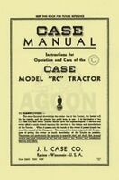 Case RC Series Tractor Operators Instruction Manual