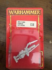 Bretonnian  Men At Arms Champion   With Spears New Blister Warhammer Oop