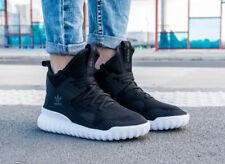 Adidas Girls Unisex Tubular X PrimeKnit Trainers Black Grey S76038 UK 4.5, 5.5