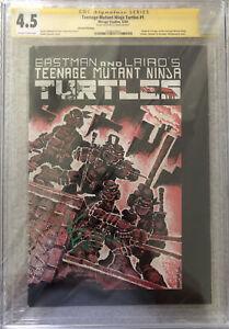 Teenage Mutant Ninja Turtles #1 CGC 4.5 Mirage 1984 2nd Print S/S Kevin Eastman