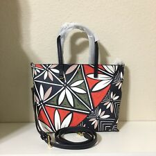 Tory Burch Small Square Convertible Floral Tote