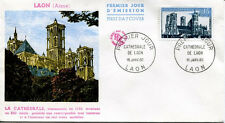 FRANCE FDC - 324 1235 2 CATHEDRALE DE LAON 16 1 1960