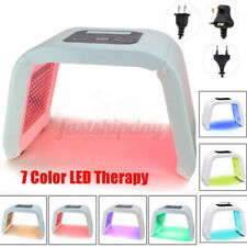 PDT 7 Color LED Light Facial Therapy Skin Rejuvenation Anti-aging Beauty  T