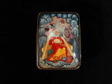 """Russian Lacquer Box """"Jack Frost """" 713  - Kholui hand painted Russian Lac Box"""
