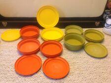 Vintage Tupperware seal n serve / wonder bowls 1252 1207 1336 w/ lids 12pc lot