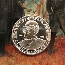 General Jackson Civil War Confederate 1 Ounce Silver Coin