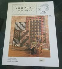 Houses log Cabins  - Red Wagon - Softcover book - NEW!