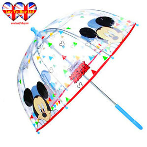 Disney Mickey Mouse Transparent Umbrella,Children's Umbrell Official Licensed