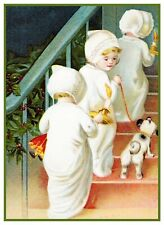 Victorian Christmas Eve Scene # 806 Children to Bed Counted Cross Stitch Pattern