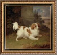 "Hand-painted Old Master-Art Antique Oil Painting Portrait dog on canvas 30""X30"""