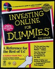 Investing Online for Dummies by Kathleen Sindell 1999 2nd Ed Paperback with CD