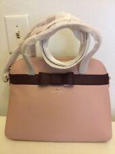Kate Spade Kirk Park  Saffiano Leather Bag Satchel Bow Handbag WKRU4168