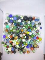 Vintage Marble Lot 210+ Swirl Handmade Glass Akro Agate Peltier Peewee Shooter