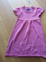 Topolino Kurzarm Mädchen Strickkleid Kleid Rosa Gr. 116