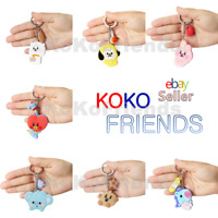BTS BT21 Official Baby Character Silicone Keyring Key Chain KPOP Goods Authentic