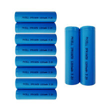 10 x IFR18650 1200mAh 3.2V LiFePO4 Rechargeable Batteries Flat Top PKCELL