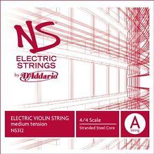 D'Addario NS Electric Violin Single A String, 4/4 Scale, Medium Tension