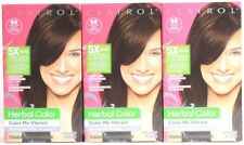 3 Clairol Herbal Color Me Vibrant 66 Chocolate Velvet Dark Brown Permanent