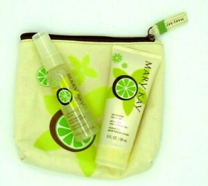 Mary Kay Coconut Lime Shower Gel & Body Mist Gift Set With Bag