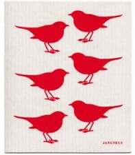NEW Red Birds Design Eco Friendly Kitchen Dishcloth