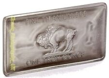 TITANIUM BUFFALO Bar 1 OZ (approx. 28.35 g) .999 Fino Titanio Puro 1 OZ (approx. 28.35 g) Barra del lingote de inversión