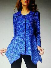 Jerry T Light Jacket 1X 18 20 New Plus Size Jacket Blue Boutique NWT
