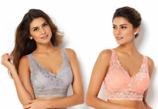 ef7a433f83764 Rhonda Shear 2-pack Lace Bra with Removable Pads in Pink and Grey